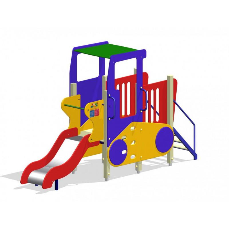 Дитячий ігровий комплекс «Трактор з гіркою і драбиною»