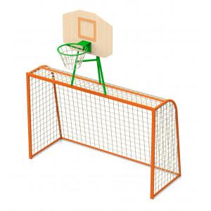 Ворота для міні футболу з баскетбольним щитом