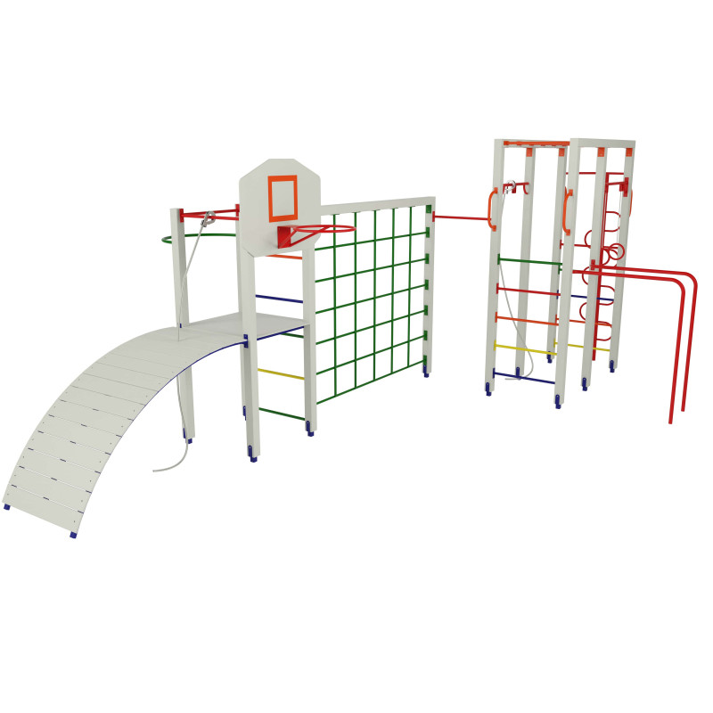 Гімнастичний комплекс з баскетбольним щитом  Р 6.1