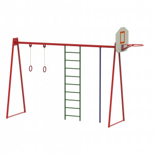 Комплекс гімнастичний з баскетбольним щитом Р2