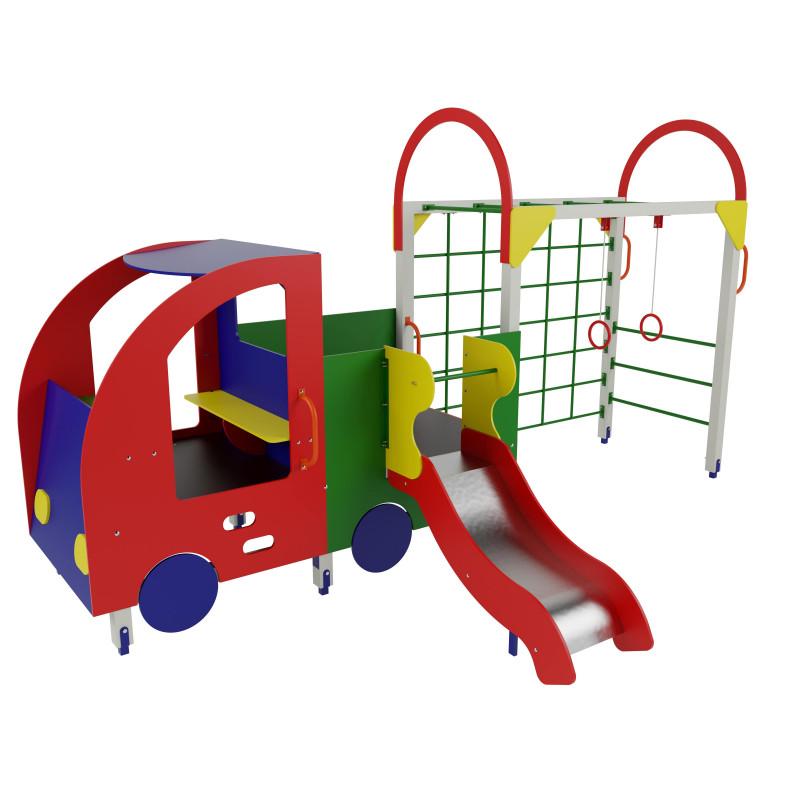 Дитячий ігровий комплекс «Машинка з причепом та гіркою»