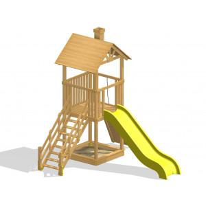 Дерев'яний дитячий ігровий комплекс «Етно міні»